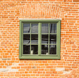 Oud houten groen venster Royalty-vrije Stock Fotografie