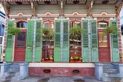 Oud Houten huis in het Franse Kwart royalty-vrije stock foto