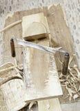 Oud houten hulpmiddel Royalty-vrije Stock Afbeeldingen