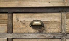 Oud houten ladekabinet Stock Fotografie