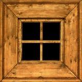 Oud houten landelijk raamkozijn Stock Fotografie