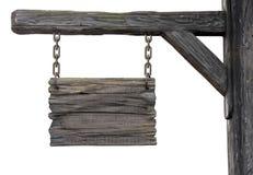 Oud houten middeleeuws herberguithangbord Royalty-vrije Stock Afbeelding