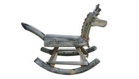 Oud houten paard stock foto's