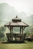 Oud houten paviljoen Royalty-vrije Stock Foto's