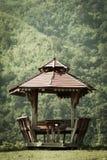 Oud houten paviljoen Royalty-vrije Stock Fotografie
