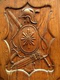 Oud houten schild Stock Foto's