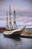 Oud houten schip Stock Foto