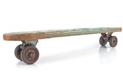 Oud houten skateboard Royalty-vrije Stock Foto's