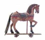 Oud houten stuk speelgoed paard Stock Foto