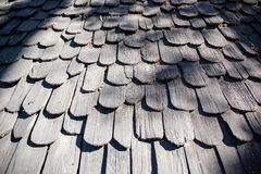 Oud houten tegeldak Royalty-vrije Stock Afbeeldingen