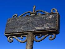 Oud houten teken stock afbeelding