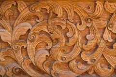 Oud houten Thais Met de hand gemaakt patroon Royalty-vrije Stock Foto's
