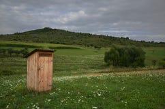 Oud houten toilet Royalty-vrije Stock Fotografie