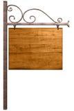 Oud houten uithangbord Royalty-vrije Stock Fotografie