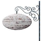 Oud houten uithangbord. Royalty-vrije Stock Afbeelding