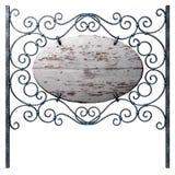 Oud houten uithangbord. royalty-vrije illustratie