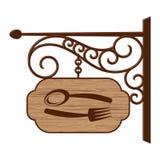 Oud houten uithangbord Stock Fotografie
