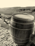 Oud houten vat royalty-vrije stock foto