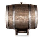 Oud houten vat op tribune stock afbeelding