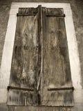 Oud houten venster Stock Foto's
