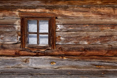 Oud houten venster Stock Foto