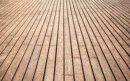 Oud houten vloerperspectief Achtergrond textuur Stock Afbeelding