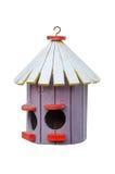 Oud houten vogelhuis Stock Foto