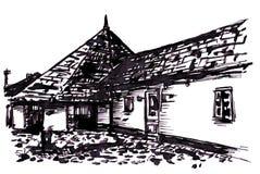 Oud huis vector illustratie