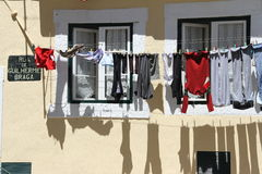 Oud huis in Alfama in Lissabon, Portugal Stock Fotografie