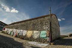 Oud huis binnen UNSECO-stad van Berati, Albanië Royalty-vrije Stock Foto's
