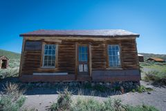 Oud Huis in Bodie Ghost Town Royalty-vrije Stock Foto