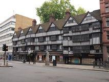 Oud huis in centrum van Londen Stock Afbeelding