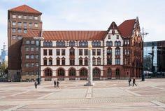 Oud Huis in de stad van Dortmund Royalty-vrije Stock Foto