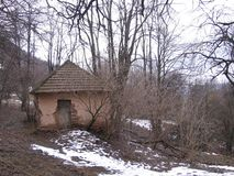 Oud huis dichtbij Grza Royalty-vrije Stock Afbeeldingen