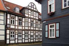 Oud huis Fachwerk in Wolfenbuttel. Royalty-vrije Stock Foto's