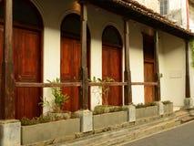 Oud huis in fort Galle, Sri Lanka Stock Fotografie