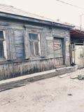 Oud huis in het centrum van de metropool stock afbeelding