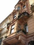 Oud huis in het centrum van Lviv Stock Foto