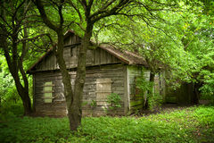 Oud huis in het dorp van Europa Royalty-vrije Stock Foto