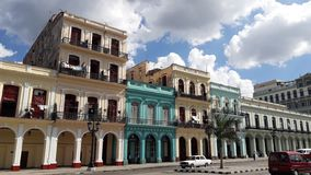 Oud huis in historisch deel van Havana, Cuba royalty-vrije stock foto's
