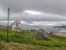 Oud Huis in Isafjordur IJsland Royalty-vrije Stock Afbeeldingen