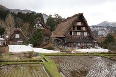 Oud huis in Japanse dorpsshirakawago Stock Afbeeldingen