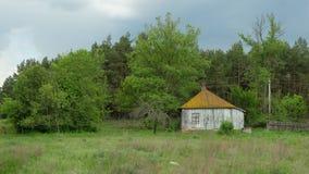 Oud huis in Kruchik, de Oekraïne stock afbeelding