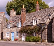 Oud huis in landelijk dorp Royalty-vrije Stock Afbeelding