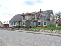 Oud huis, Litouwen royalty-vrije stock foto's