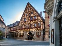 Oud huis in Marktbreit, Duitsland Stock Afbeeldingen