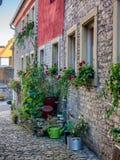 Oud huis in Marktbreit, Duitsland Stock Afbeelding