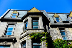 Oud Huis in Montreal de stad in royalty-vrije stock fotografie