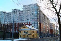 Oud huis in Moskou Stock Fotografie