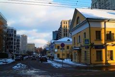 Oud huis in Moskou Royalty-vrije Stock Foto's